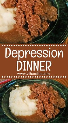 Looking for something new for dinner that doesn't cost much money? Try this Depression Dinner Recipe tonight! It's delicious, filling and super-cheap to make. Hamburger Recipes For Dinner, Ground Beef Recipes For Dinner, Dinner With Ground Beef, Fast Dinner Recipes, Easy Recipes, Breakfast Recipes, Budget Recipes, Lunch Recipes, One Dish Dinners