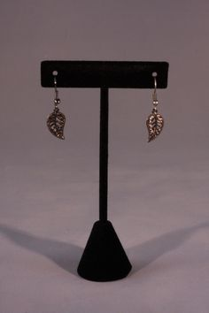 Gold leaf earrings. Mountain Laurel Boutique