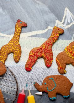 Help the kids make their favourite animals out of gingerbread by following this fun gingerbread biscuits recipe from Andrew Mackenzie. You'll need some unusual cutters to make a full safari, but if you want to make gingerbread men instead that is fine also
