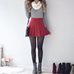 Dear Stitchfix stylist - I am obsessed with this outfit 😍😍 - Chelsea Winter Fashion Outfits, Cute Fashion, Fall Outfits, Girl Fashion, Cute Casual Outfits, Outfits For Teens, Pretty Outfits, Pinterest Fashion, Cute Skirts