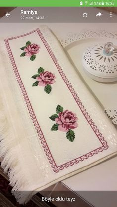 Hardanger Embroidery, Cross Stitch Embroidery, Hand Embroidery, Flower Embroidery Designs, Embroidery Patterns, Cross Stitch Heart, Bargello, Diy And Crafts, Quilts