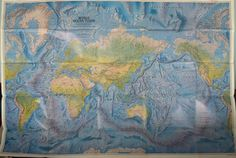Large Ocean Floors Map Mercator Projection The World