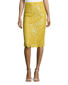 Floral Lace Pencil Skirt by Michael Kors at Neiman Marcus.