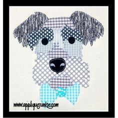 Boys :: Schnauzer Calico Applique Design