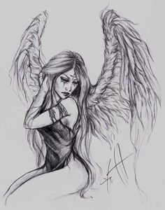 how to draw christmas Fairy Drawings, Dark Art Drawings, Pencil Art Drawings, Art Drawings Sketches, Tattoo Drawings, Body Art Tattoos, Angel Sketch, Angel Drawing, Fairy Sketch