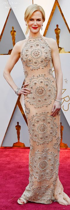 Nicole Kidman, wearing Armani Privé, attends the 89th Annual Academy Awards. (Photo by Frazer Harrison/Getty Images)