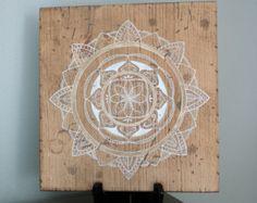 White/Gold Mandala- Mandala Art- Mandala on Distressed Wood- Mandala Wall Hanging- Mandala Deco - Edit Listing - Etsy