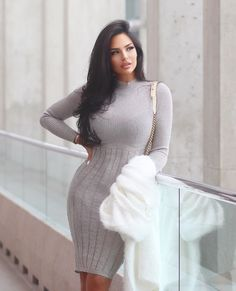 Stylish Winter Outfits, Sexy Outfits, Cute Outfits, Fashion Outfits, Tight Dresses, Sexy Dresses, Nice Dresses, Good Looking Women, Hot Dress
