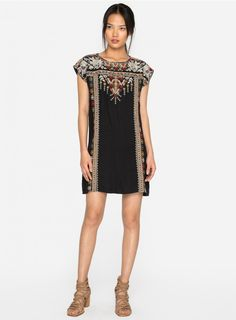 8427d4a8994 Intricately embroidered tunic dress  johnnywas Cowgirl Chic