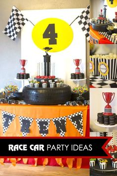 A Rad Race Car Themed 4th Birthday Party - Spaceships and Laser Beams