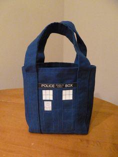TARDIS Tote Bag via Etsy.