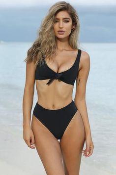 d26ccf5258 A| Chicloth Women's Cute Beachwear Sexy Scoop Neck Bikini Swimsuit(In Stock)