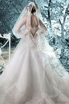 Amazing back detail wedding dress| Michael Cinco bridal 2012
