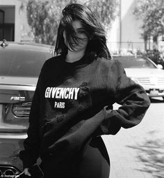 Sister, sister: Kendall took this photo of Kylie in a baggy sweatshirt in May 2016