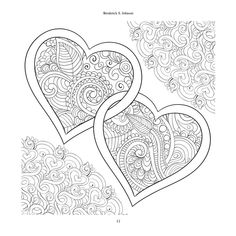 Valentine Coloring Pages, Heart Coloring Pages, Pattern Coloring Pages, Colouring Pages, Coloring Sheets, Coloring Books, Free Adult Coloring, Printable Adult Coloring Pages, Adult Color By Number