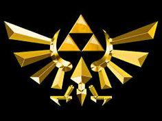 La Triforce (トライフォース Toraifōsu) une relique sacrée qui apparaît tout au long de la saga The Legend of Zelda. La Triforce est composée de trois triangles d'or sacrés nommés la Triforce de la Force (triangle du haut, associé à Ganondorf), la Triforce de la Sagesse (gauche, associé à Zelda), et la Triforce du Courage (droite, associé à Link).