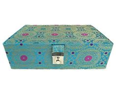Goldencollections Peacock Blue Jewellery Box