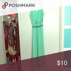 Mint maxi dress Mint maxi dress with belt never worn City Triangles Dresses Maxi