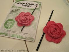 daffodils & snowdrops: How To... Make The Mollie Makes Crochet Flower...