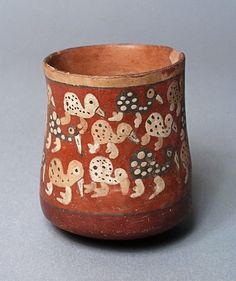 Miniature Jar. Peru, Early Nasca, 100 B.C. - A.D. 200 - Ceramic, hand built, slip decorated, burnished and fired   LACMA Collections