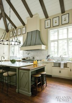 'Plenty of eye candy' in this kitchen designed by Amy Morris. Atlanta Homes & Lifestyles.