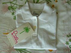 675326f8a Lilly pulitzer girls minnie petal white polo~nwt~school uniform~size 3t