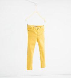 Skinny twill trousers-LEGGINGS AND TROUSERS-GIRL | 4-14 years-KIDS | ZARA United States