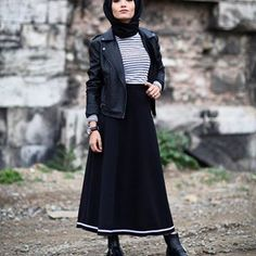 Hijab Niqab, Ootd Hijab, Hijab Dress, Muslim Fashion, Modest Fashion, Hijab Fashion, Gangster Style, Rock Outfits, My Style
