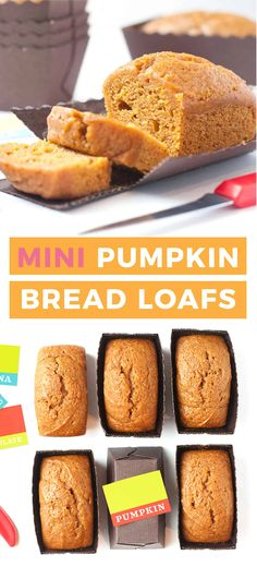 Mini Loaf Cakes, Mini Bread Loaves, Mini Loaf Pan, Bundt Cakes, Loaf Bread Recipe, Banana Bread Recipes, Pumpkin Recipes, Mini Loaf Pumpkin Bread Recipe, Cake Recipes