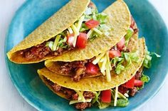 Spicy ground beef tacos!