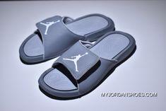 ad7bb15731608b Air Jordan Hydro 6 Sandals 881473-011 881474-0117 Black Grey Men Super Deals