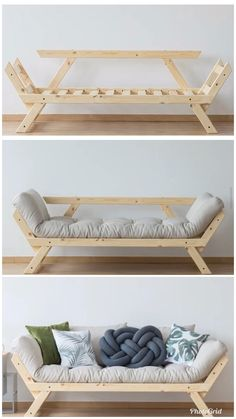 Diy Pallet Furniture, Diy Furniture Projects, Home Decor Furniture, Furniture Plans, Diy Home Decor, Furniture Design, Room Decor, Wooden Sofa Designs, Sofa Set Designs