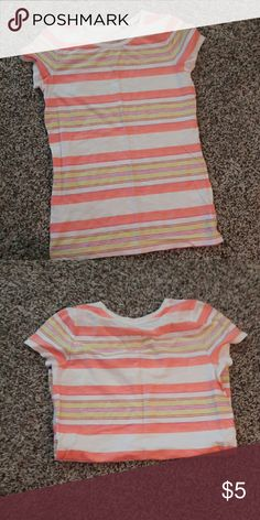 CHEROKEE TEE Like new. Multi color stripe. Name written in collar. 14/16 Cherokee Shirts & Tops Tees - Short Sleeve