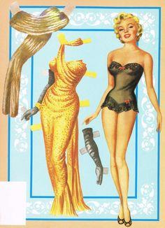 vintage paper dolls | Screen Greats Presents Marilyn Monroe Vintage Book Posters Paper Dolls