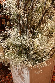 Rustic twigs and delicate gypsophilia. A midsummers night dream?