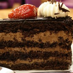 A Great recipe for chocolate cake with hazelnut mousse. This is Dessert is a family favorite.. Hazelnut Chocolate Mousse Layer Cake Recipe from Grandmothers Kitchen.