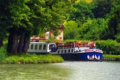 Barging in France   - Explore the World with Travel Nerd Nici, one Country at a Time. http://TravelNerdNici.com