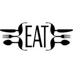 Silhouette Design Store: eat sign