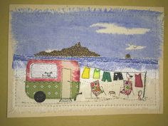 Paper Embroidery crafts, fairy gardens, fabric and paper cards - crafts, fairy gardens, fabric and paper cards Freehand Machine Embroidery, Free Motion Embroidery, Paper Embroidery, Embroidery Applique, Fabric Postcards, Fabric Cards, Paper Cards, Sewing Appliques, Applique Patterns