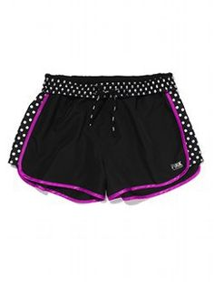 """VICTORIAS SECRET PINK /""""PINK/"""" ULTIMATE CAMPUS SHORTIE LINED RUNNING SHORTS NWT"""