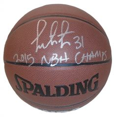 """Festus Ezeli Autographed Spalding NBA Indoor / Outdoor Basketball w/ Inscription!. Festus Ezeli Autographed NBA I/OBasketball Featuring """"2015 NBA Champs"""" Inscription! Golden State Warriors, Proof  This is a brand-new custom Festus Ezeli autographed NBA Spalding indoor/outdoor basketball featuring """"2015 NBA Champs"""" inscription! Festus signed the basketballin silver paint pen.Check out the photo of Festus signing for us. ** Proof photo is included for free with purchase. Please click on…"""