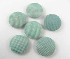 Lot of 6 Vintage 25 mm Light Blue Plastic Buttons by TheTreasureBoxOrna on Etsy