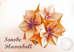 Sonobe flowerball folded by Kalami