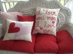 Tammy Wheeler Valentine Pillows at MishMosh, Inc. in Reidsville, NC