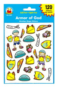 Carson-Dellosa, Armor of God Shape Stickers, Package of 120