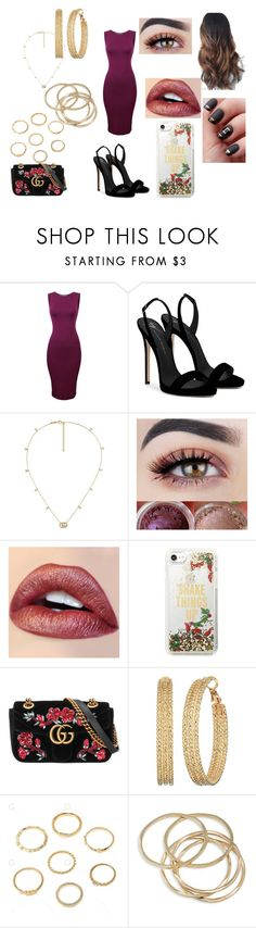 """""""Blind Date"""" by roxy-crushlings ❤ liked on Polyvore featuring Giuseppe Zanotti, Gucci, Kate Spade, GUESS and ABS by Allen Schwartz"""
