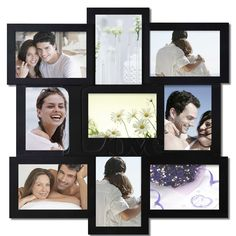 """Decorative Black Wood """"Love"""" Wall Hanging Collage Picture Photo Frame"""