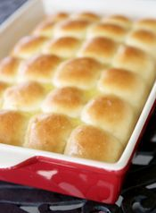 1 hour yeast rolls...taste wonderful.  If you don't have quick rise yeast, use regular and let it  proof in the warm milk mixture for about 5-10 minutes.