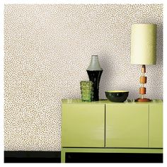 Devine Color Prints and Patterns Speckled Dot Karat in a metallic gold and white color way is a peel-and-stick, removable, wall and surface covering that is easy to apply, reposition and remove. Simply peel and stick onto a smooth, primed and painted wall or surface that is in good condition. Or try it on a door, furniture or accent piece. Devine Color Prints and Patterns is perfect for small projects. One roll will transform a 27.5 sq. ft. area.  Product works best when applied to eggshell…