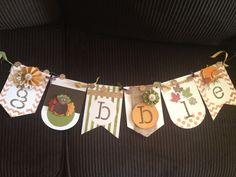 Gobble banner, stampin up banner kit
